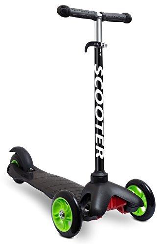 OxGord Scooter for Kids - Deluxe Aluminum 3 Wheel Glide...