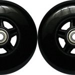 Kick Push 100mm 88A 2 Pack of 5-Spoke Scooter Wheels for Razor Kick Scoot...