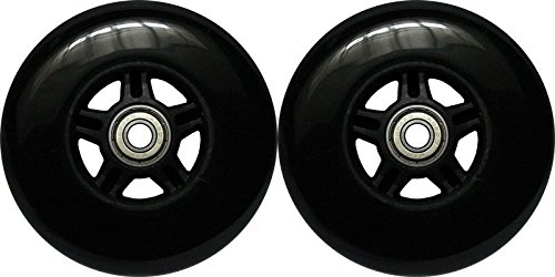 Kick Push 100mm 88A 2 Pack of 5-Spoke Wheels for Razor Kick Scoot...