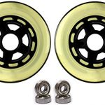 Kick Push Plastic hub Scooter Wheels Black/Clear 5 Spoke hub 100m…