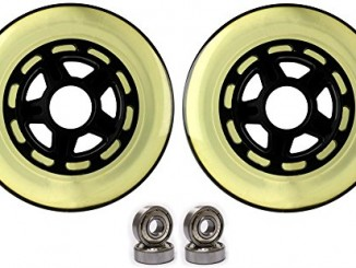 Kick Push Plastic hub Scooter Wheels Black/Clear 5 Spoke hub 100m...