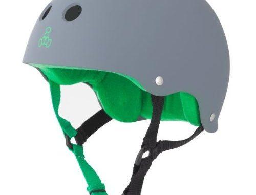 Triple Eight Helmet with Sweat Saver Liner, Carbon Rubber, Medium